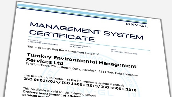 New International Management Certifications for TEMS International